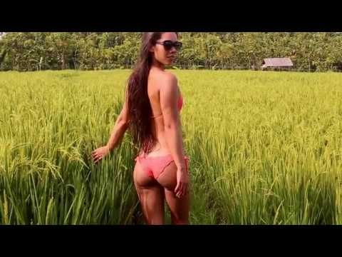 Bali walks in bikinis