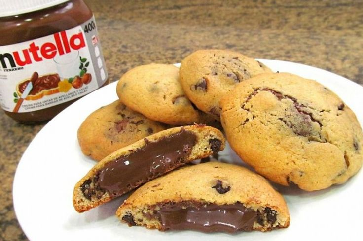 Galletas chip cookies rellenas de nutella   Tic Tac Yummy