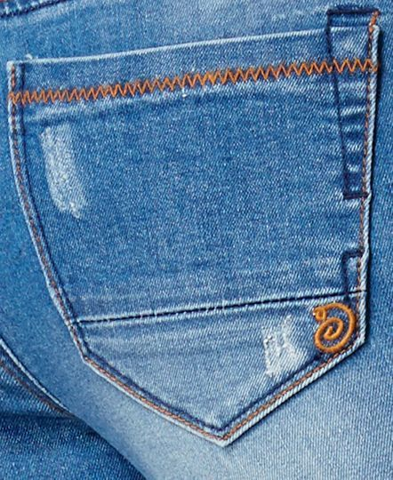 Indigo Rein Juniors' Feltrin Ripped Medium Wash Skinny Ankle Jeans