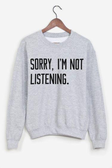 Sorry I'm Not Listening