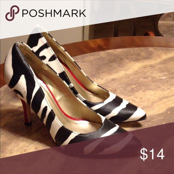 Kelly & Katie Zebra Heels. Repost Zebra print Kelly & Katie Shoes Heels