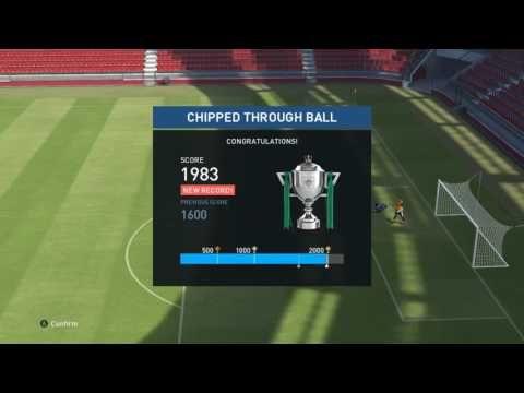 Pro Evolution Soccer 2017 Chipped Through Ball Skills Training - YouTube
