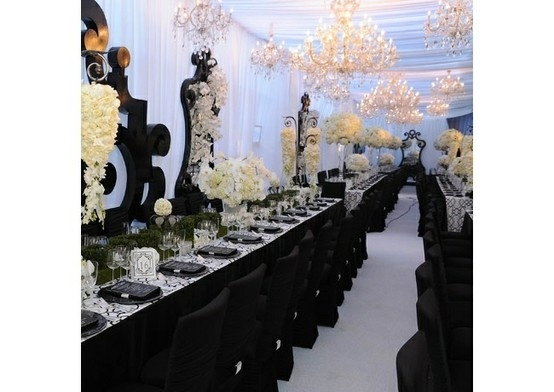 wedding in black