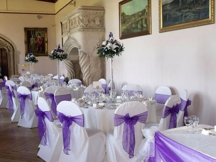 Lavender Banquet Chair Covers