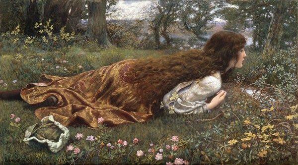 Edward Robert Hughes ~ The Princess Out of School. (Pre-Raphaelite). http://www.arts-wallpapers.com/galleries/Edward-Robert-Hughes/img13.jpg