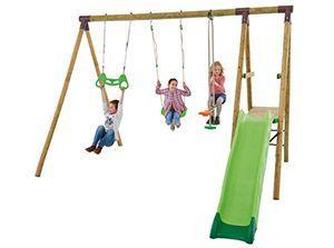 Portique en bois Trigano 2,50 m. + Toboggan 5 enfants  304, livraison gratuite