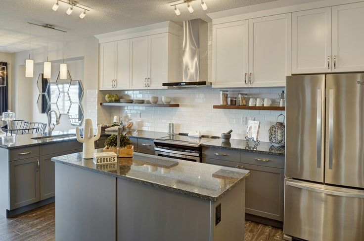 Two Toned Cabinets In Tuxedo Style, Painting Kitchen Cabinets Calgary