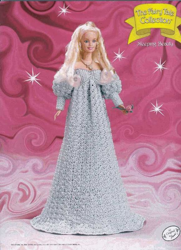 Crochet Barbie - The Fairytale Collection, Sleeping Beauti, pattern http://knits4kids.com/collection-en/library/album-view?aid=12069