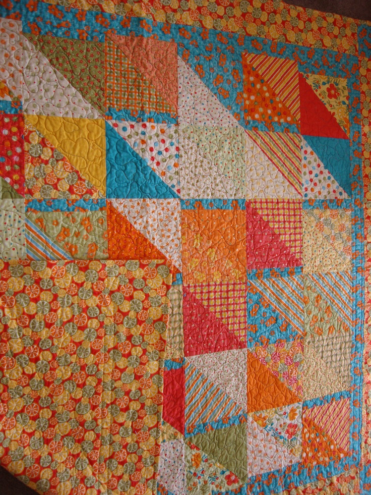 Fresh Squeezed Moda Fabric Quilt Quilts I Made