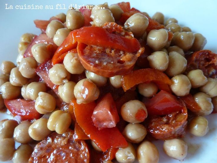 Salade pois-chiches / poivrons grillés/ chorizo