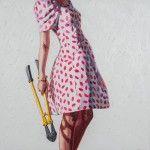 Kelly Reemtsen's Painterly Juxtapositions of Chic Dresses and Power Tools Showcase Modern Femininity