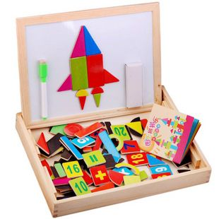 candice guo! hot sale educational wooden toy magnetic puzzle graph spells happily colorful gift 1pc