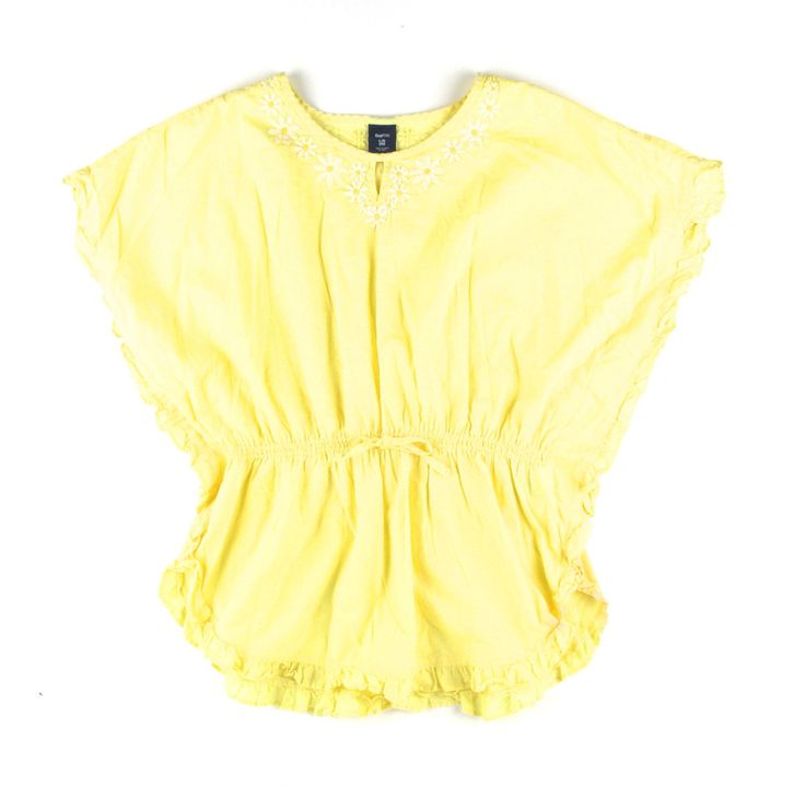 yellow top, yellow blouse, GapKids blouse, batwing top in yellow
