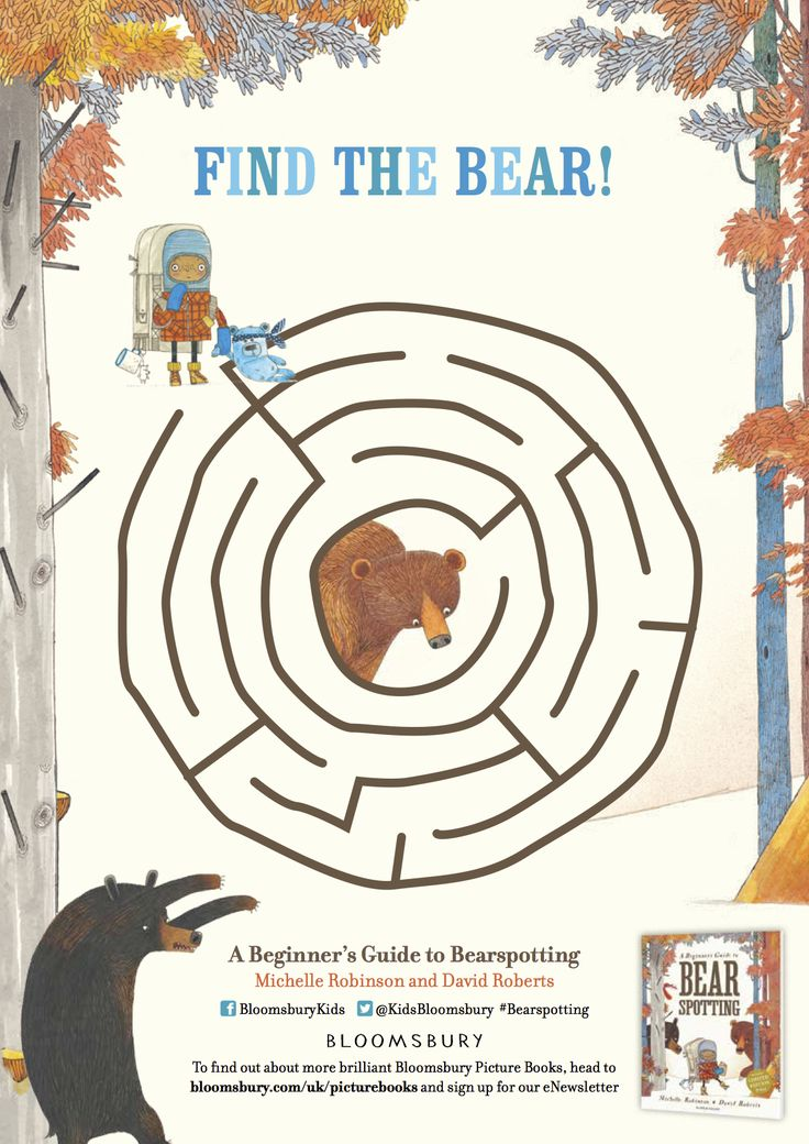 Find the bear - from 'A Beginner's Guide to Bear Spotting', Michelle Robinson & David Roberts, Bloomsbury 2016.
