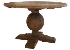 MEDIUM ROUND DINING TABLE-120CM MADE FROM RECYCLED TIMBER SLIGHT IMPERFECTIONS ARE PART OF THE CHARACTER OF THIS RANGE  NOT CONSIDERED FAULTS Please Click the image for more information.
