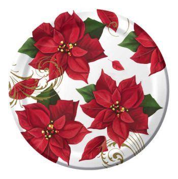 Poinsettia Breeze 10-1/4-inch Plates  sc 1 st  Pinterest & 699 best Christmas Dinnerware images on Pinterest | Christmas china ...