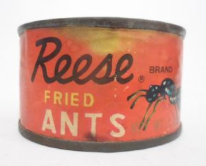Vintage Tin Reese Finer Foods Inc Fried Ants Made in Japan Circa 1950s Unopened with Original Contents Intact £14