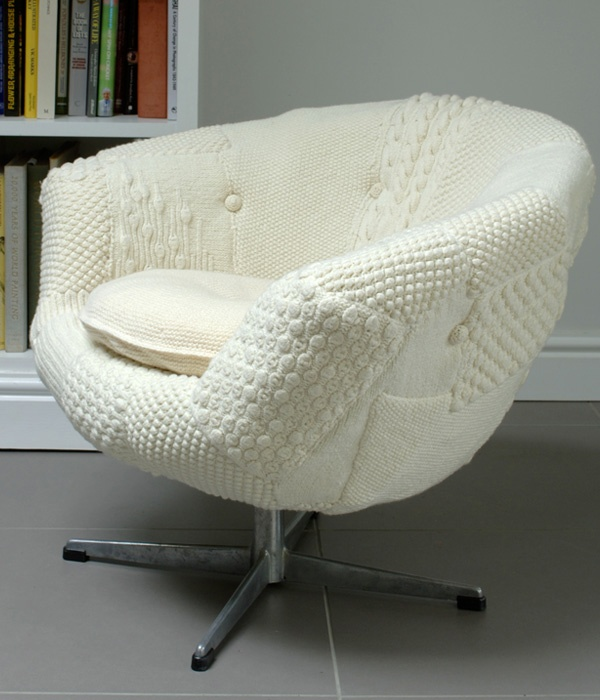 Wonderful Knitted Chair Cover