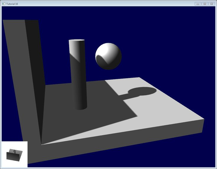 Tutorial 16 : Shadow mapping