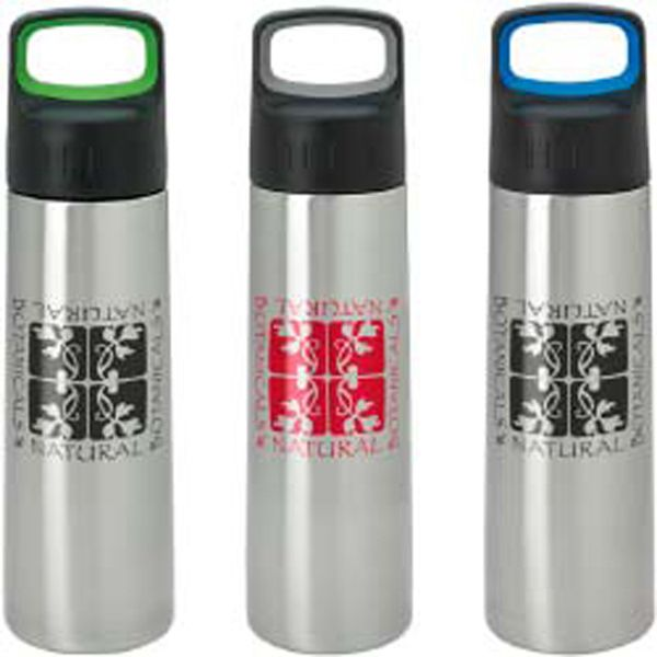 "You'll ""travel"" in all the right circles with this classic travel mug in your campaign! Designed to fit in all cup holders, this wonderful, BPA free travel mug features dual-wall insulation and the iconic Bubba(R) stainless steel band. Wherever clients and prospects need to go, your brand will go with them. Measuring 5 3/4"" diameter x 7 3/4"" h, this giveaway reaches its 20 oz. capacity when filled to the rim. Order yours now!"