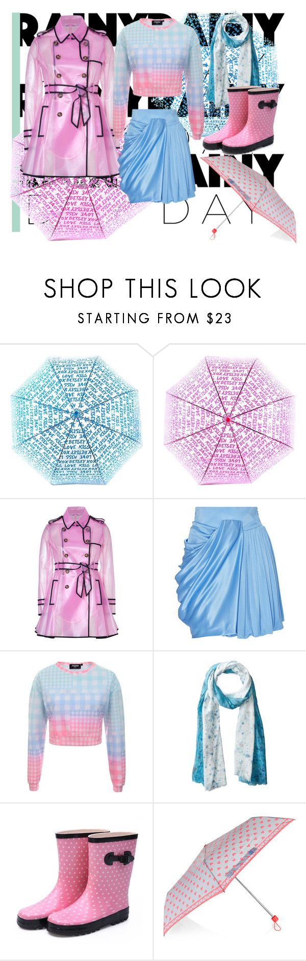 """Welcome Rain ^^"" by hwangfie ❤ liked on Polyvore featuring Betsey Johnson, RED Valentino, FAUSTO PUGLISI, Jaded, Michael Stars, Accessorize, women's clothing, women, female and woman"