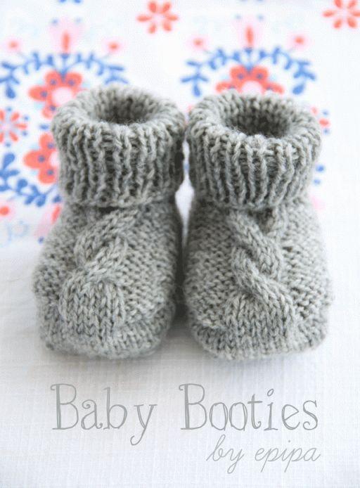 Strickanleitung Baby Booties