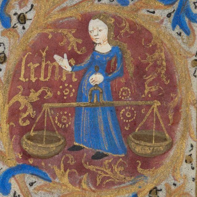 Zodiac sign of Libra (15th century)