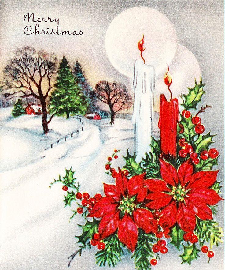 2154 best christmas cards images on pinterest  vintage