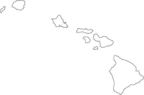 hawaii outline map