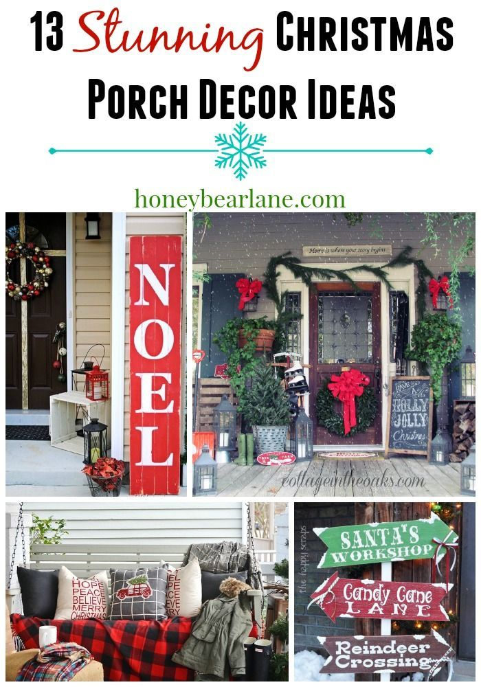 13 Stunning Christmas Porch Decor Ideas For The Home - this is a great DIY idea if you want to bring the Christmas decor outside too! Lovely house decor ideas.