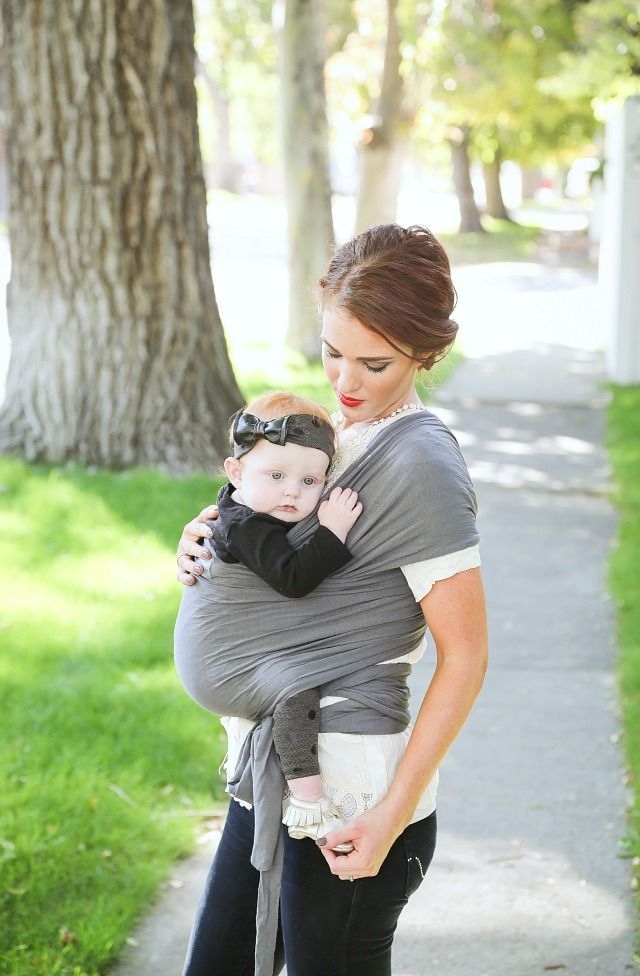The Freckled Fox - a Hairstyle Blog: Classic Baby Wrap How-To + A Happy Baby Wrap Giveaway!