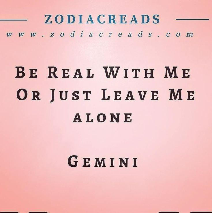Gemini zodiac be real