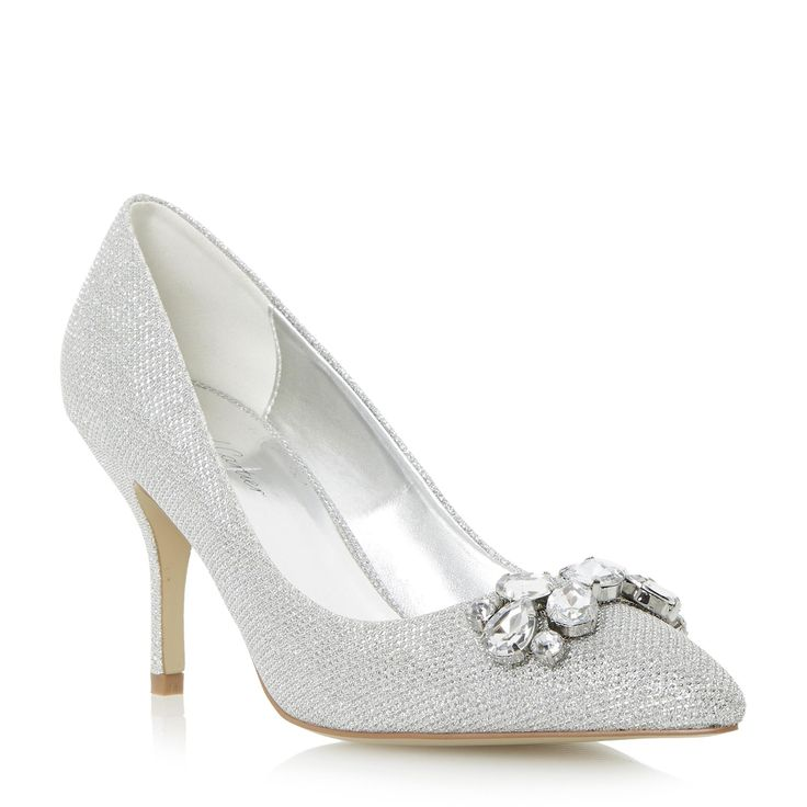 Roland Cartier Ladies BELLOMI - Jewel Embellished Pointed Toe Court Shoe - silver | Dune Shoes Online