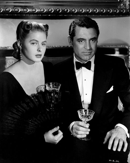 Ingrid Bergman and Cary Grant in Notorious (1946). #Hitchcock