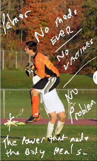 Soccer Player No meds EVER No vaccines No Problem! #Chiropracticcare