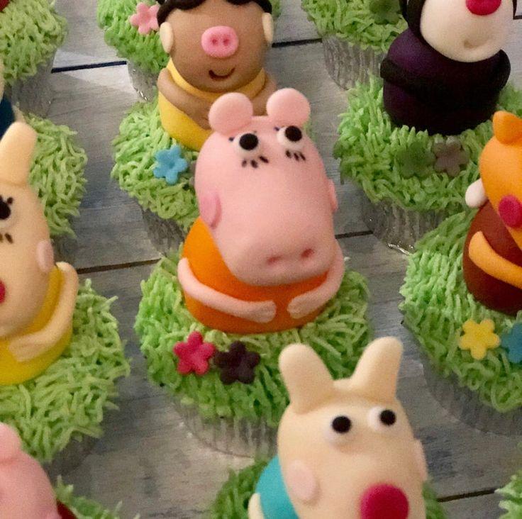 Inspired peppa pig edible handmade cupcake toppers etsy
