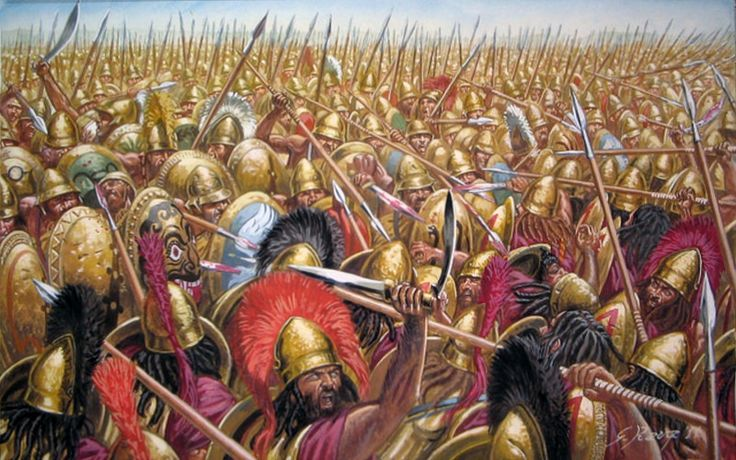 """Battle of Leuctra"", Giuseppe Rava; battle fought on July 6, 371 BC, between the Boeotians led by Thebans and the Spartans along with their allies amidst the post-Corinthian War conflict."