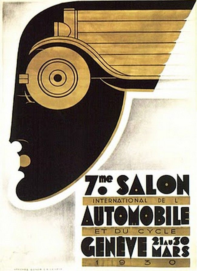 Captures Art Deco in poster design - 1930 - Art Deco Ad - @~ Watsonette