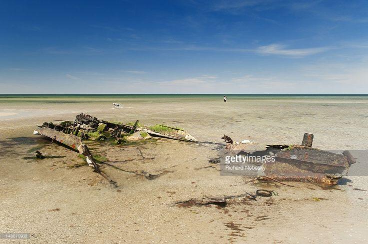 Stock Photo : Shipwreck at Altona beach.