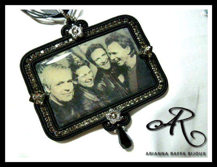 """Ciondolo soutache con l'immagine dei """"Duran Duran"""", semplicità ed eleganza racchiusa in questo gioiello..."""