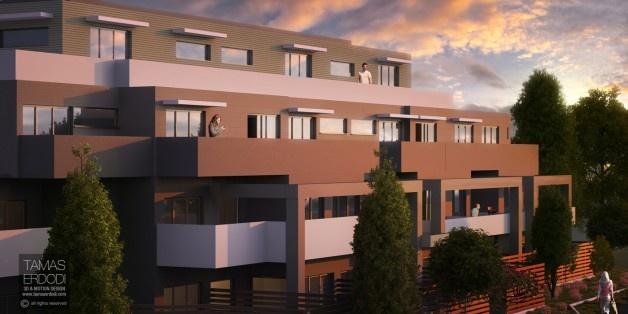 Aries apartments exterior views. Location: Melbourne,  Australia.  KBROS Projects | 3D Visualisation: Tamas Erdodi For high resolution image please visit: http://tamaserdodi.com/  #3D #Render #ArchViz #Exterior