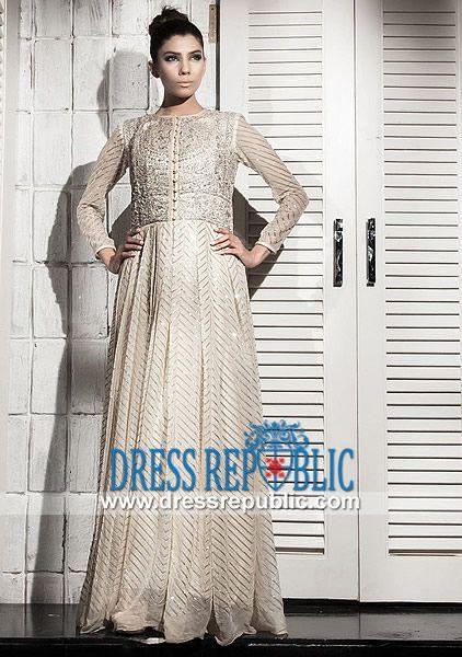 Designer Fahad Hussayn Floor Length Anarkali Dress  Buy Online Fahad Hussayn Designer Anarkali 2014 Collection. Over 8000 Pakistani/Indian Designer Anarkali Suits to Choose From. by www.dressrepublic.com