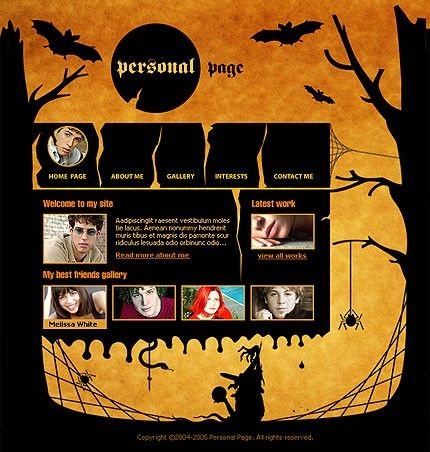 FLASH SITE #template // Regular price: $66 // Unique price: $1545 // Sources available:.SWF,  .HTML,  .PSD, .FLA #ArtWorks #Personal #Flash  #Halloween #FlashSite