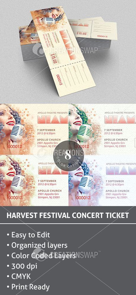 17 best ideas about Concert Ticket Template – Make Your Own Concert Ticket