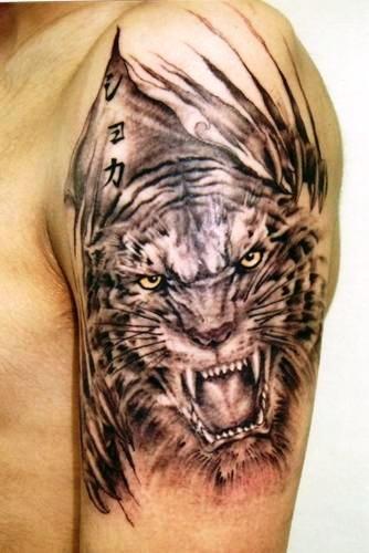 Japanese Half Sleeve Tattoos. tiger tattoo japanese designs