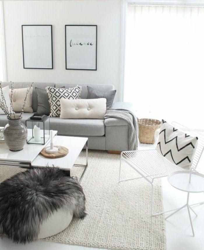 awesome dco salon superbe salon gris et blanc canap gris perle couleur peinture