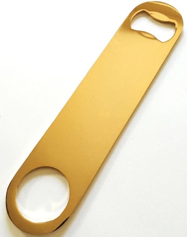 Gold Plated Speed Bottle Opener Bartender Stainless Steel Beer Mamba Popper Church Bar Key