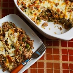 ... Brown Rice Casserole with Turkey Italian Sausage and Green Bell Pepper