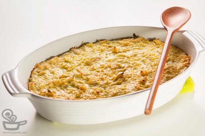 gratinado-de-frango-e-alho-poro - TESTADA (modificações: catupiry, alho, queijos, cenoura)
