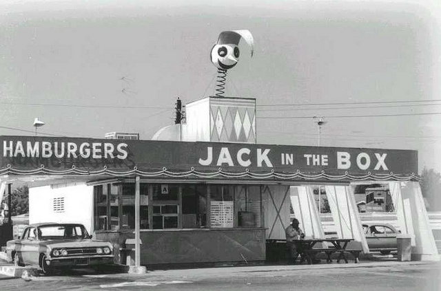 First Jack In the Box 1960's by encanto_sunland, via Flickr